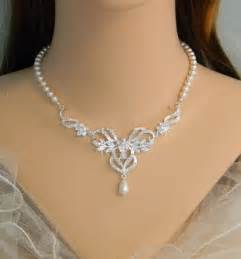 Pearl Bridal Jewelry Sets Necklace and Earrings