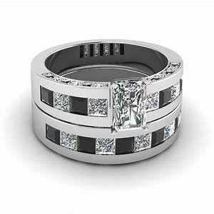 stunning black diamond wedding ring sets fascinating With black diamond engagement wedding ring sets