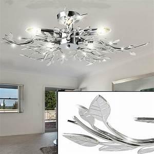 Lampen Wohnzimmer Decke : decken leuchte beleuchtung acryl bl tter verchromt wohnzimmer lampe l ster licht ebay ~ A.2002-acura-tl-radio.info Haus und Dekorationen