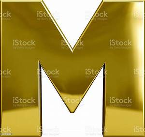 Gold Metal Letter M Stock Photo - Download Image Now