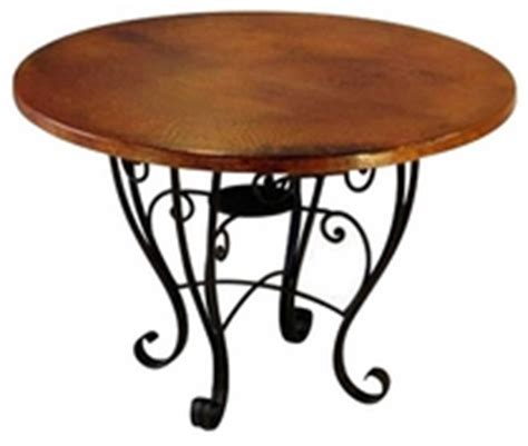 copper top dining table care hammered copper top tables with iron bases