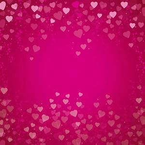 Vector Abstract Pink Happy Valentines Hearts Background