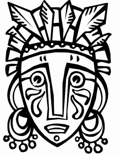 African Mask Coloring Pages Getcolorings Printable Colorin