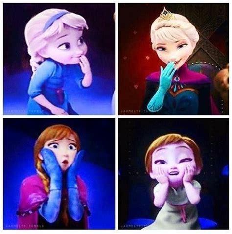 frozen anna  elsa silly faces disneydreamworkspixar