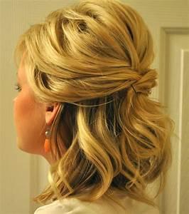 Coiffure Pour Cheveux Mi Longs : photo coiffure mariage une demi queue l gante pour cheveux mi longs ~ Melissatoandfro.com Idées de Décoration