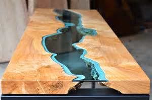 designer holztische table topography wood furniture embedded with glass rivers and lakes by greg klassen colossal