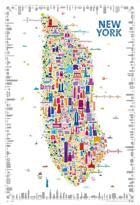 york   muse maps  york poster map