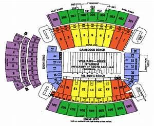 Florida Stadium Seating Chart Williams Brice Stadium Columbia Sc