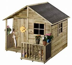 Maison Pour Enfant En Bois : maisonnette en bois loulou castorama maisonnettes ~ Premium-room.com Idées de Décoration