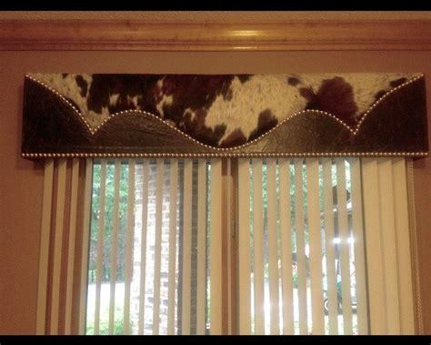 Cowhide Valance - image result for cowhide cornice bonus room western