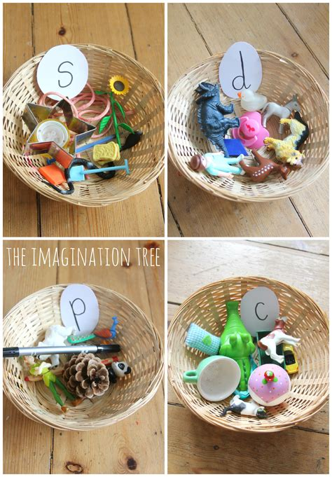 sorting baskets phonics activity the imagination tree 853 | Phonics sorting baskets activity