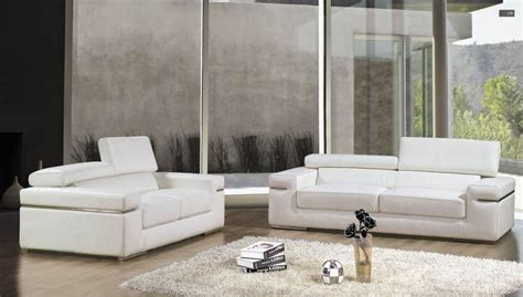 canap cuir blanc 3 places deco in canape 3 places en cuir blanc can