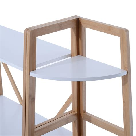 Bookcase Console Table by Homcom 41 Quot 3 Shelf Wood Bookcase Console Table White