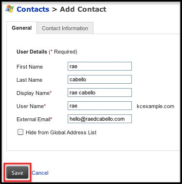 Do You Need To List Your Address On Resume by Adding A Microsoft Exchange Contact Knowledge Center Rackspace Hosting