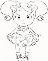 Doll Coloring Dolls Pages Baby Lol Printable American Colouring Drawing Surprise Alive Cartoon Drawings Getcolorings Paper Para Dorita Miss Quality sketch template