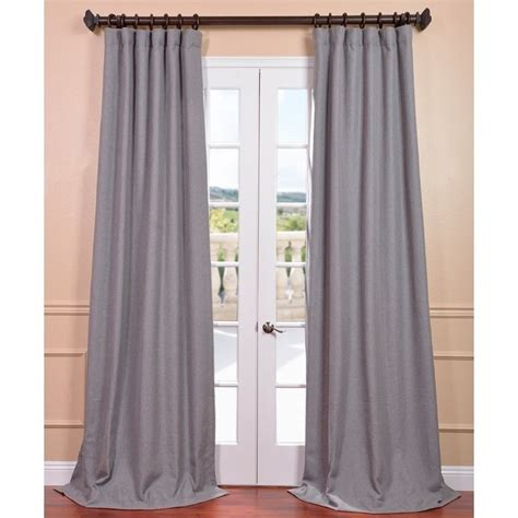 light grey linen curtain panel