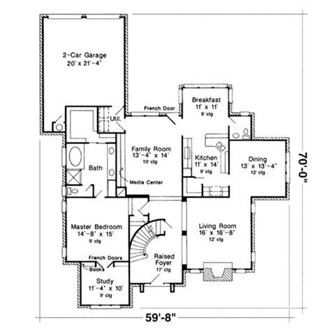 European Style House Plan  4 Beds 350 Baths 2960 Sqft