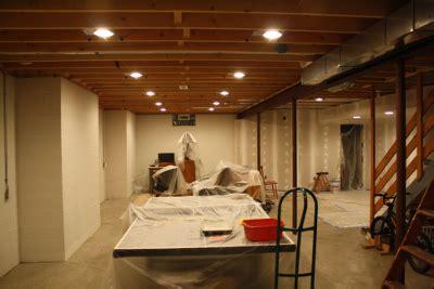 basement recessed lighting basement upgrade creating the new hangout runlevel 6