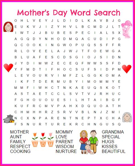s day word search printable activity shelter