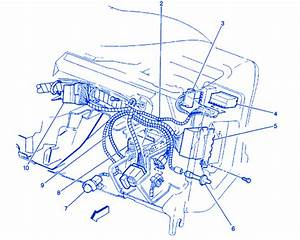 Chevrolet Blazer 1995 Inside Dash Electrical Circuit Wiring Diagram