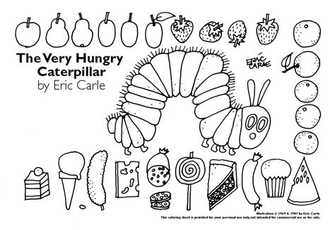 hungry caterpillar coloring pages the hungry caterpillar mrs spatafora s
