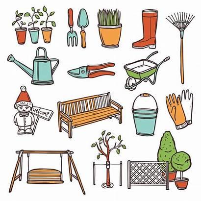 Tools Gardening Clipart Jardinage Giardinaggio Garden Outils