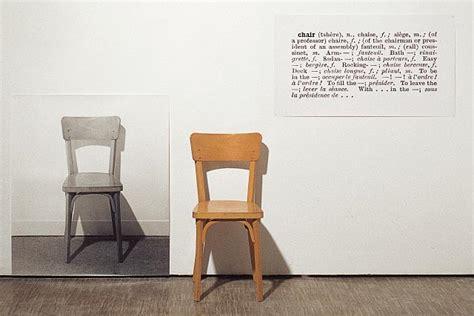 joseph kosuth one and three chairs dimensions espace p 233 dagogique arts plastiques insitu repr 233 sentation