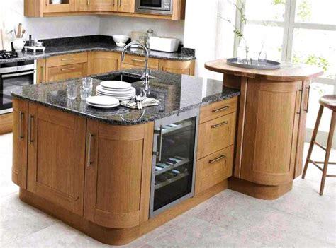 Oak Kitchen Island With Breakfast Bar  Home Interior