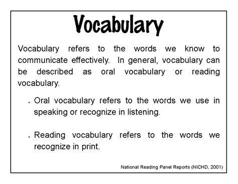 vocabulary words  elsberrys  grade news