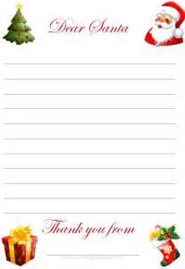 Write Santa a Letter Template