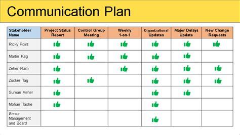 communication plan template stakeholder management plan template free free project management templates