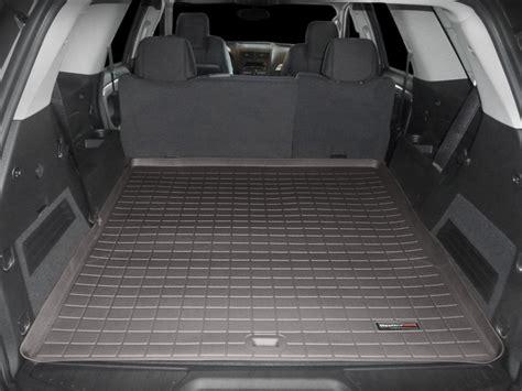 weathertech cargo mat weathertech cargo liner trunk mat for gmc acadia limited