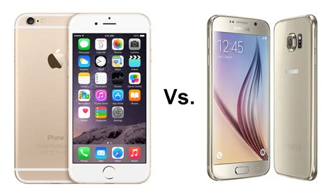 iphone vs samsung samsung galaxy s6 vs iphone 6 comparison