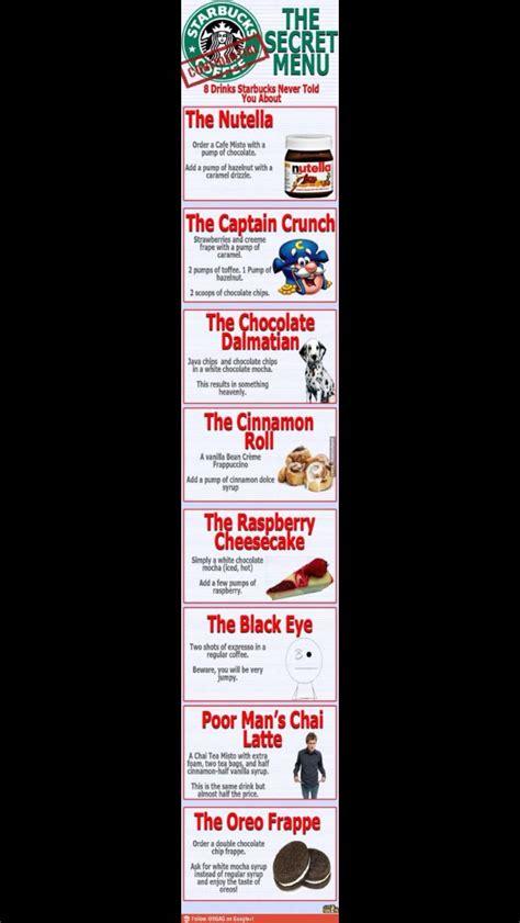 The best starbucks secret menu drinks, according to fans & baristas. Starbucks secret menu just if u can't read the other one! | Starbucks menu, Secret menu, Secret ...
