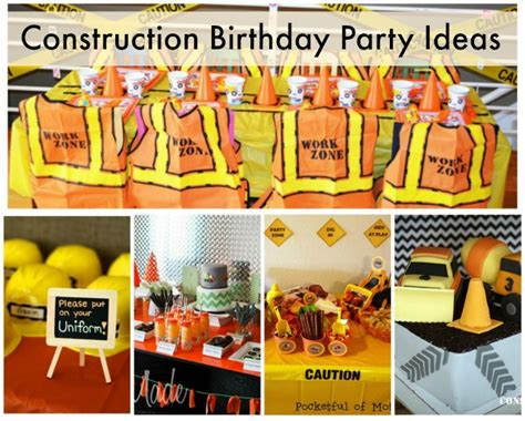 construction truck themed 1st birthday party planning ideas cool construction birthday party ideas