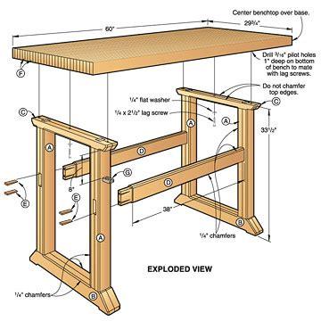 woodwork simple workbench plans   plans