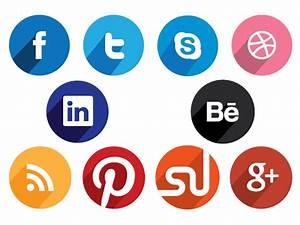 Flat Round Social Media Icons   Design Crawl