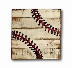 baseball sign boy39s room decor sports decor wood baseball With baseball wall decor
