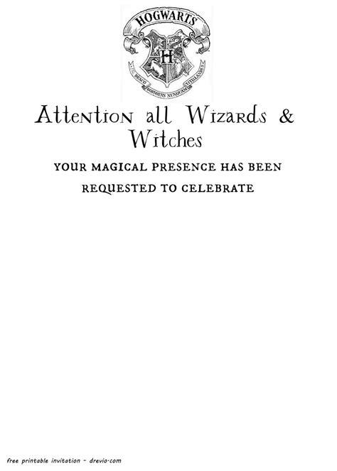 Hogwarts Letter Template Free Printable Harry Potter Hogwarts Invitation Template
