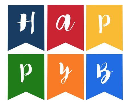 happy birthday banner  printable paper trail design