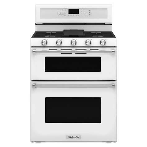 Kitchen Aid Gas Range by Shop Kitchenaid 30 In 5 Burner 3 9 Cu Ft 2 1 Cu Ft Self