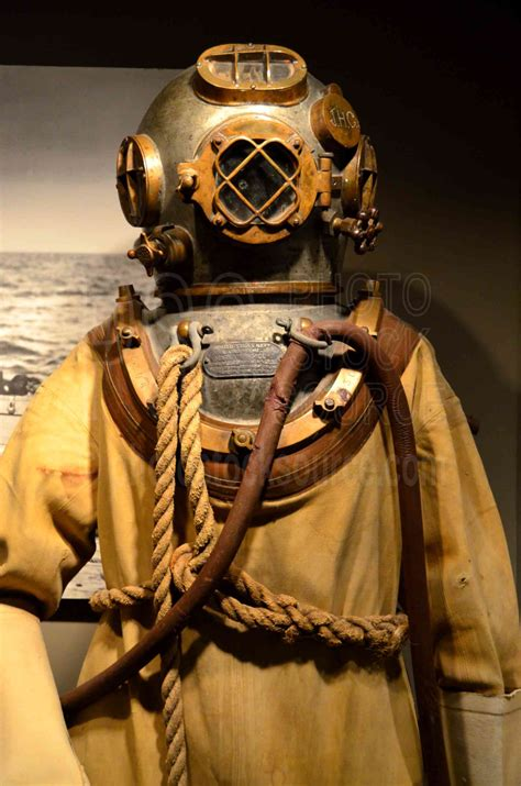photo  mark  deep sea diving suit  photo stock source
