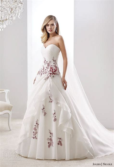 wedding dress with color best 25 color wedding dresses ideas on