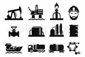 Gas and Oil icons set 01   Stock Vector   Colourbox
