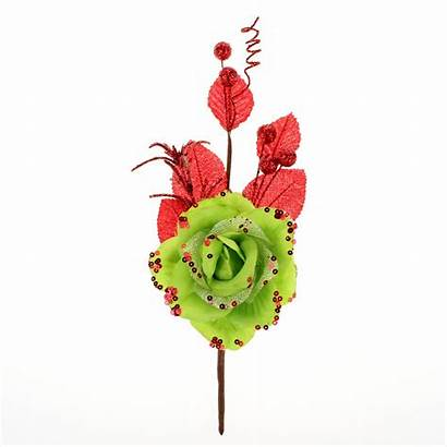 Glittered 28cm Artificial Roses Holiday Decor