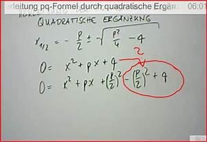 Nullstellen Berechnen Quadratische Ergänzung : herleitung der pq formel quadratische erg nzung onlinemathe das mathe forum ~ Themetempest.com Abrechnung