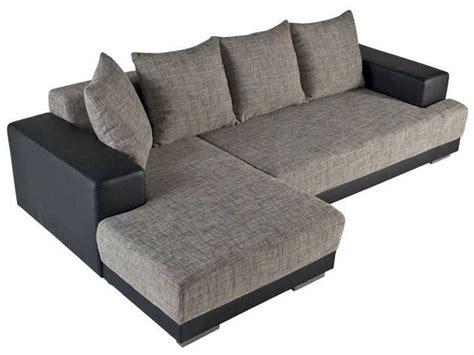 canape angle conforama canapé convertible d 39 angle gauche toast coloris noir gris vente de canapé d 39 angle conforama