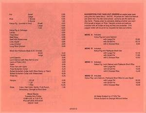 Helena's Hawaiian Food menu