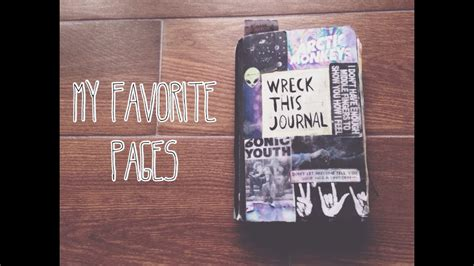 Wreck This Journal  Flip Through My Favorite Pages Youtube