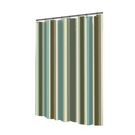 shop allen roth polyester multicolor striped shower